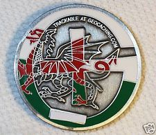 2009 South Wales  - Ant. Silver Finish - New Geocoin Unactivated