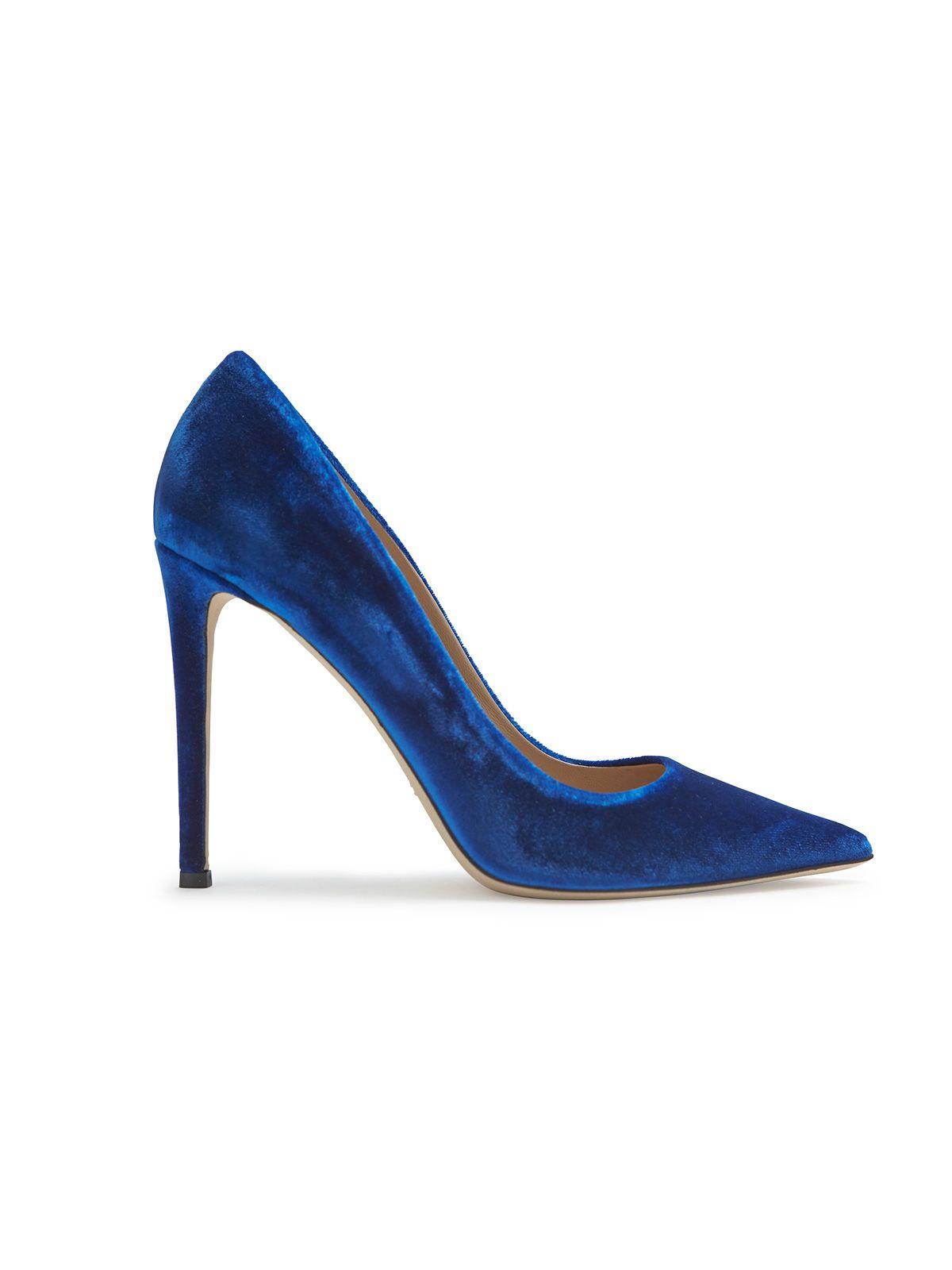 bd4ad16512d7e2 Tamara Mellon velvet pumps in blue Designer Pumps