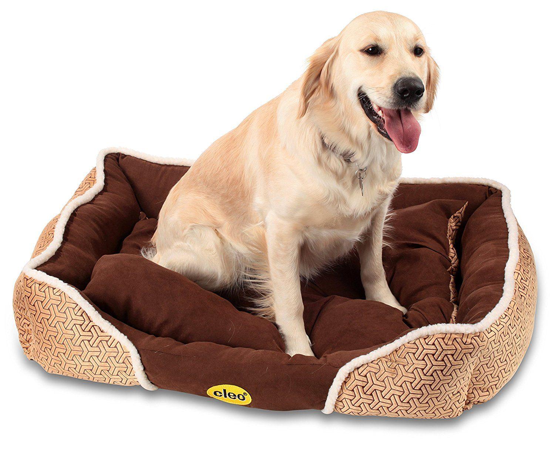 Cleo Cozy Cat Bed/Dog Bed Beige Medium (75cm x 58cm x