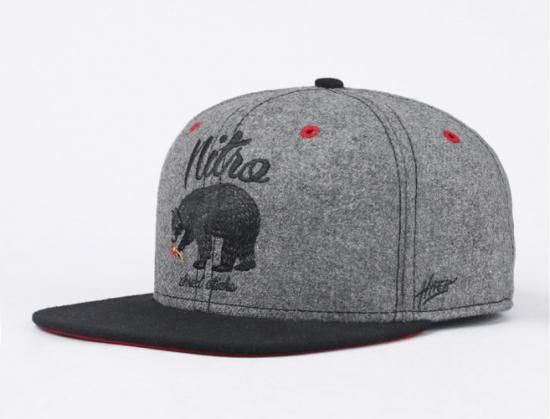 Bear Flannel Fitted Baseball Cap by NITRO SNOWBOARD CO. Gorras a8deb9be369
