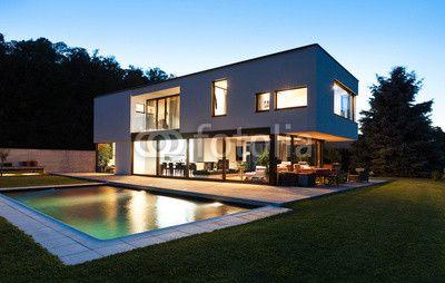 Modern Villa With Pool Night Scene Alexandre Zveige дома