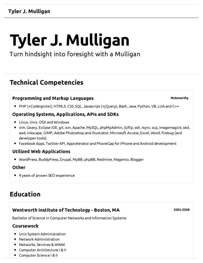 Example Of A Simple Resume Howtocreatearesume4  Resume Cv Design  Pinterest  Create
