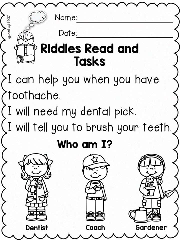 Comprehension Is Always Hard For The Little Ones So I M Hoping This Produc Reading Comprehension Passages Reading Comprehension Kindergarten Community Helpers
