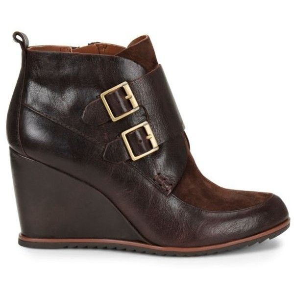 Korks Hankska Wedge Buckle Bootie- Brown