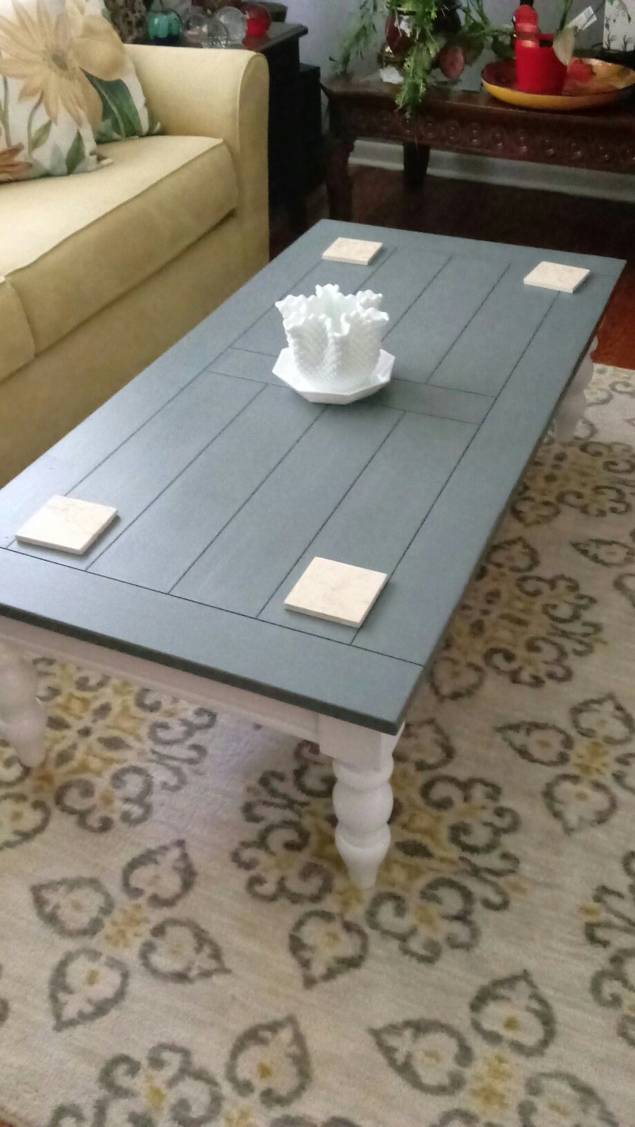 Farmhouse Style Coffee Table Painted White And Web Gray Dark Gray Beautiful Farmhouse Style Coffee Table Coffee Table Painted Coffee Tables