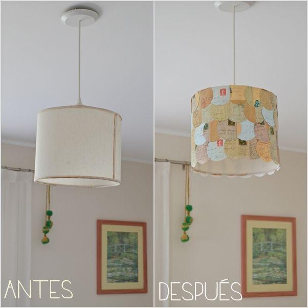 Vero Palazzo - Home Deco: Renovando una lámpara con papel - DIY