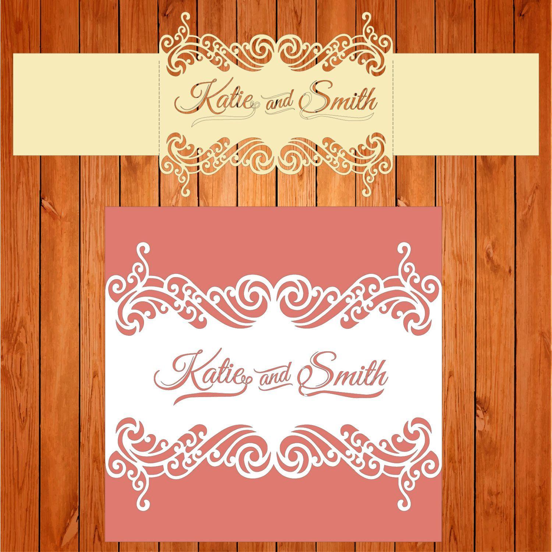 Invitation of the wedding card template, figures (studio V3, svg ...