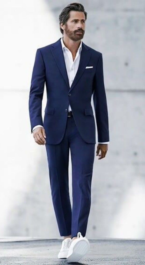How To Dress For School Farewell Or College Farewell Suits And Sneakers Mens Outfits Blue Suit Men