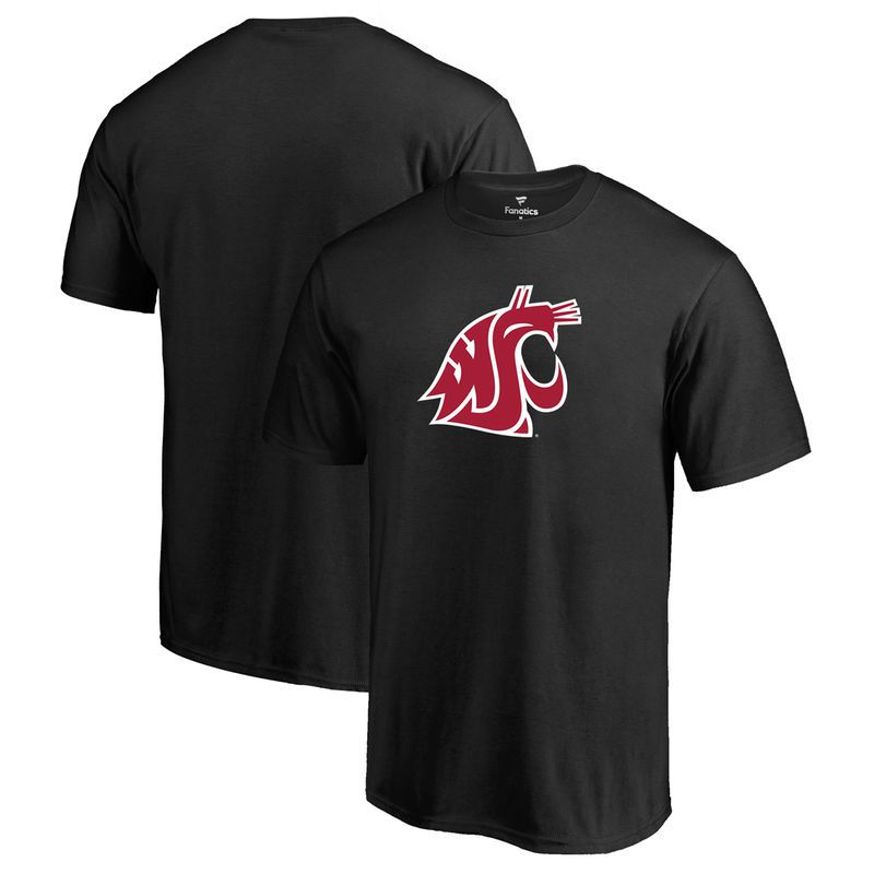 Washington State Cougars Fanatics Branded Primary Logo T-Shirt - Black