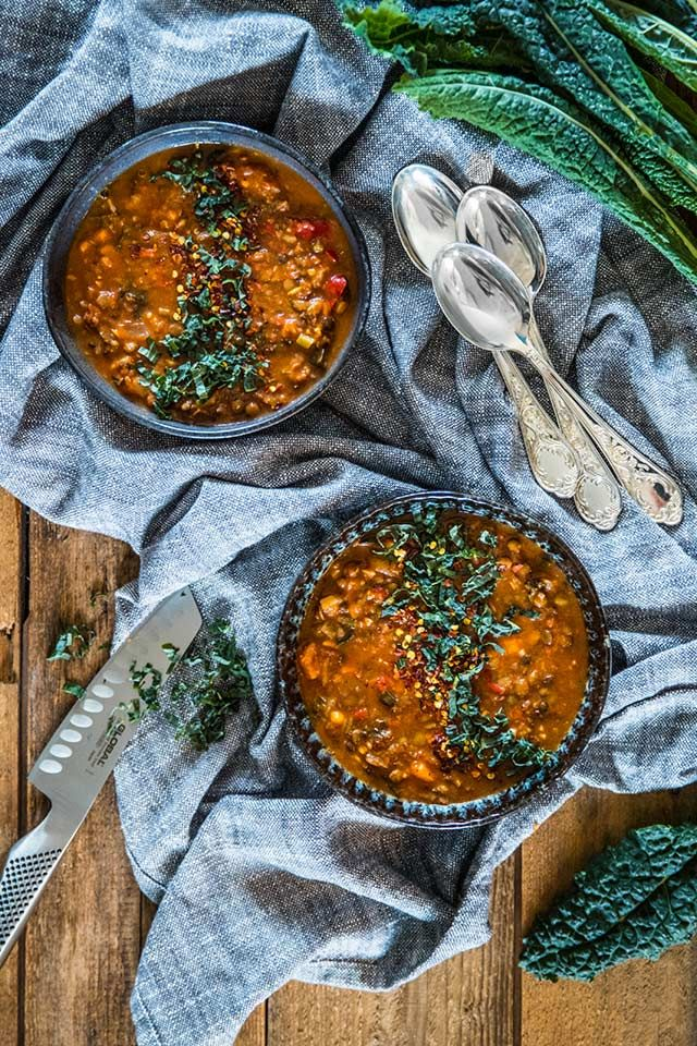 vegetarisk gryta med sötpotatis