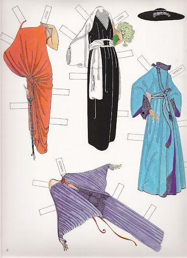 Erté Fashion Paper Dolls of the Twenties - Lison, Paulette and Claudette