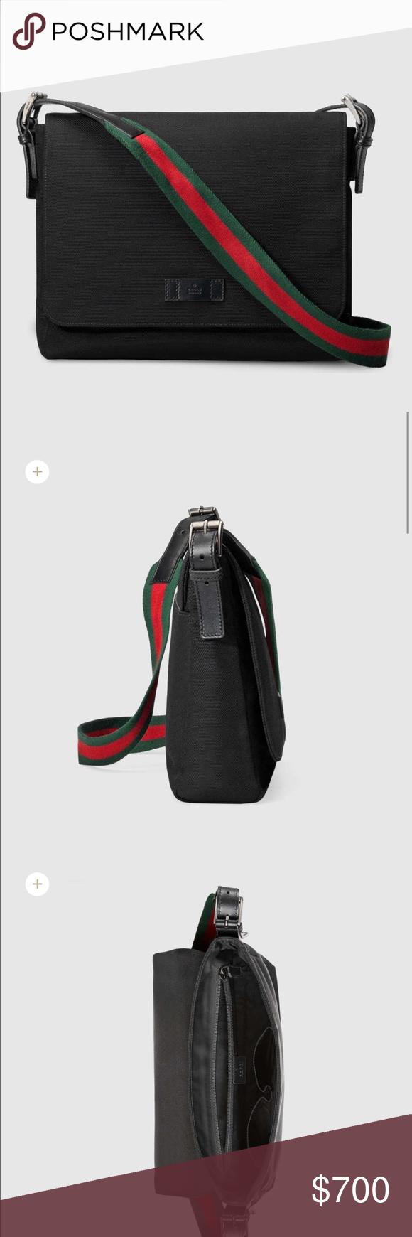 0132b8d12d8 Auth Gucci crossbody black bag. Nwt Gucci s techno canvas messenger bag. On  the Gucci