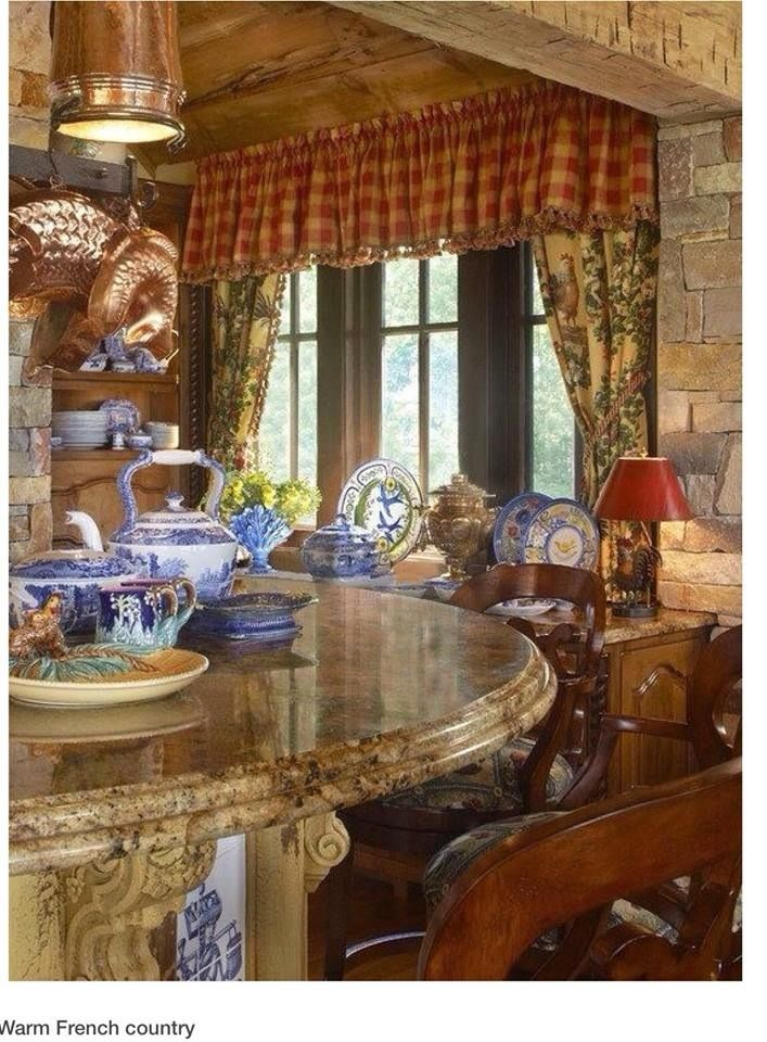 Warm French Country Kitchen
