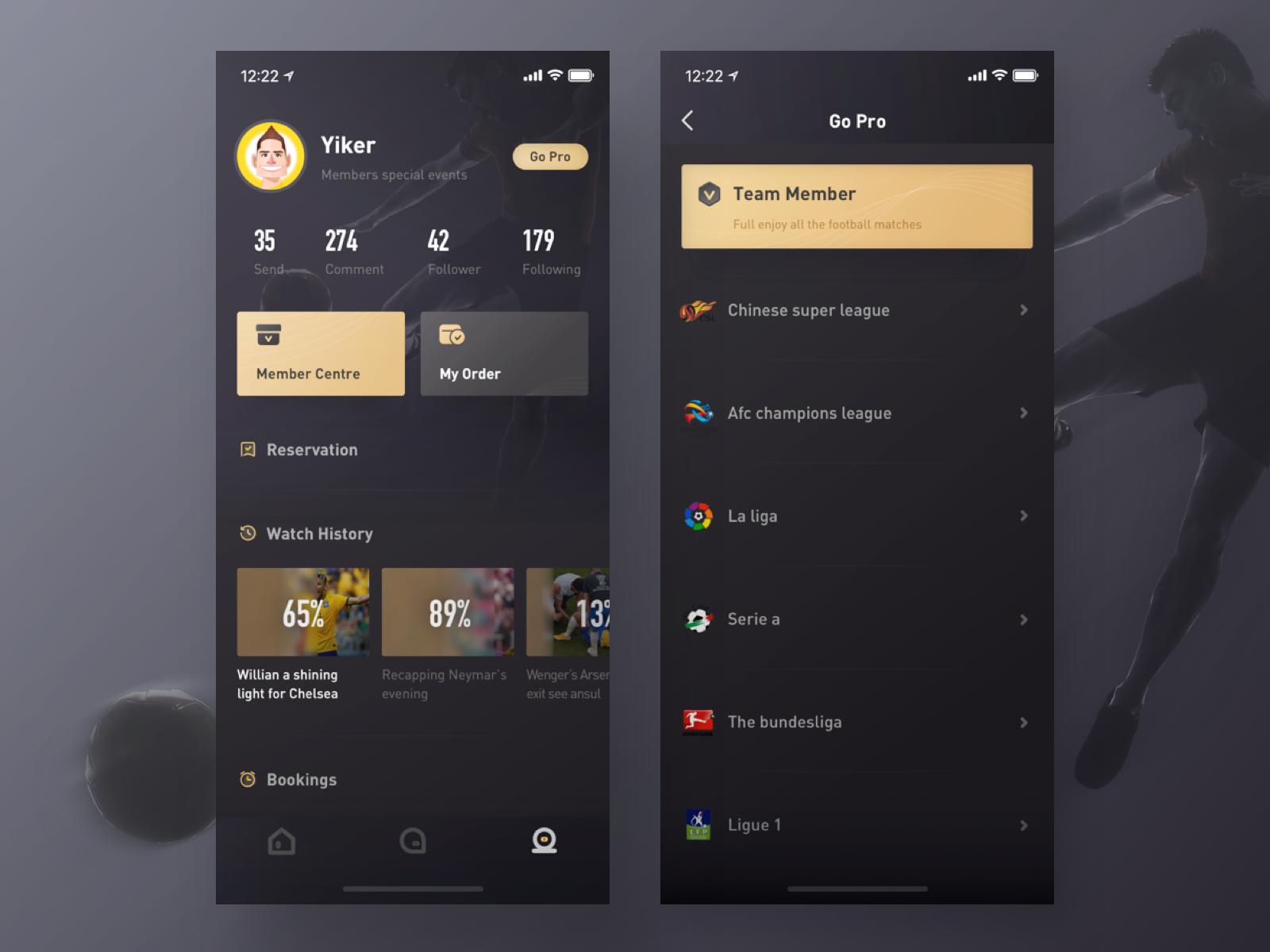Sports Vip Page One App Design Inspiration Portfolio Web Design Mobile Design