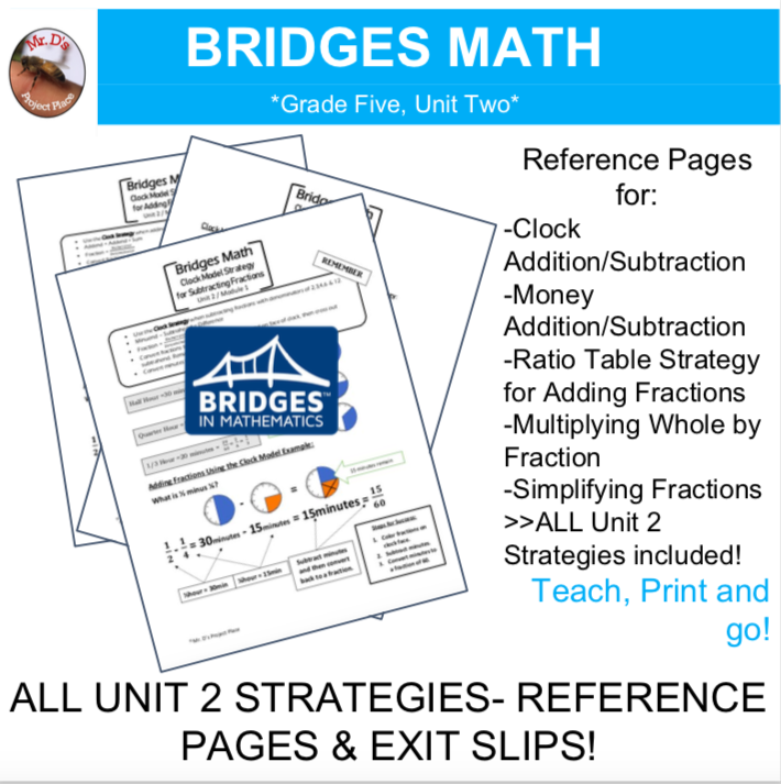 Bridges Math: 5th Grade Unit Two Strategies- Reference Pages