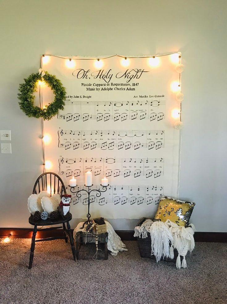 Farmhouse holiday decor oh holy night wall art christmas