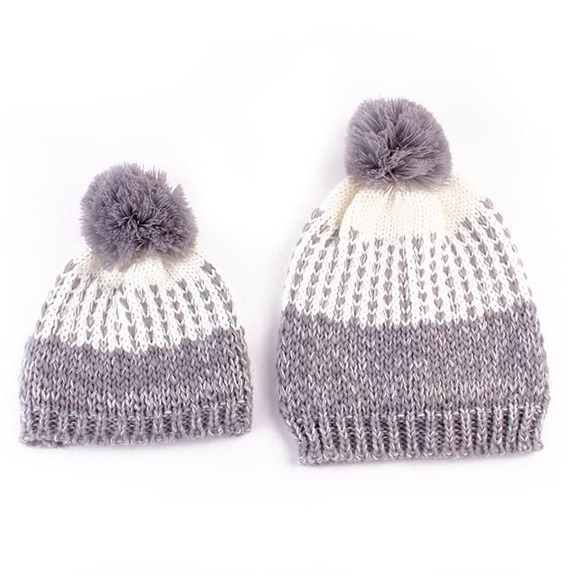 Accessories Hats & Caps 2017 Kids Baby Child Hat Warm Winter Knitted Beanie Faux Fur Pom Hat Crochet Ski Cap Knitting Caps Bringing More Convenience To The People In Their Daily Life