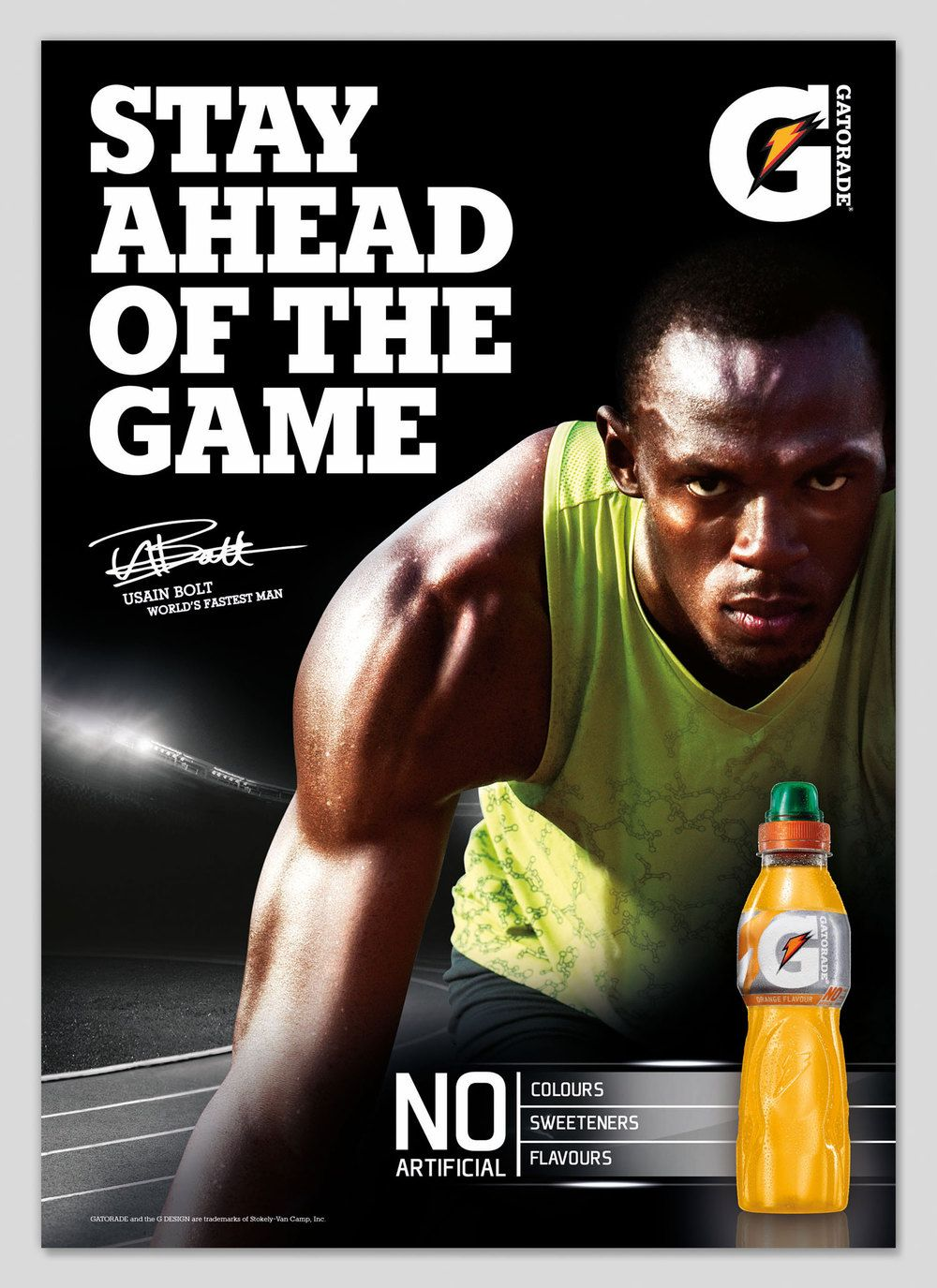 This ad was created from Gatorade. This ad includes a ...