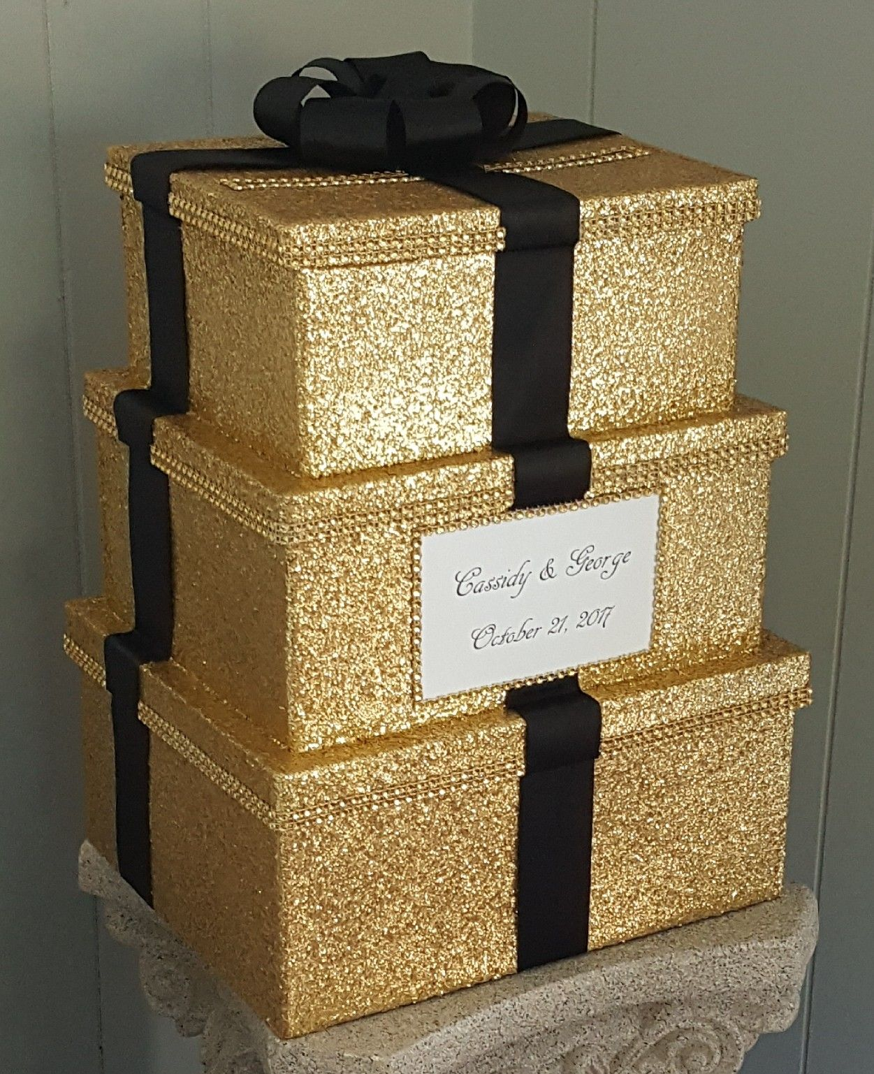 Beautiful Gold Glitter Card Box Perfect For Your Special Event You Can Find This Item Listed Under My Ebay Card Box Wedding Diy Diy Card Box Card Box Wedding