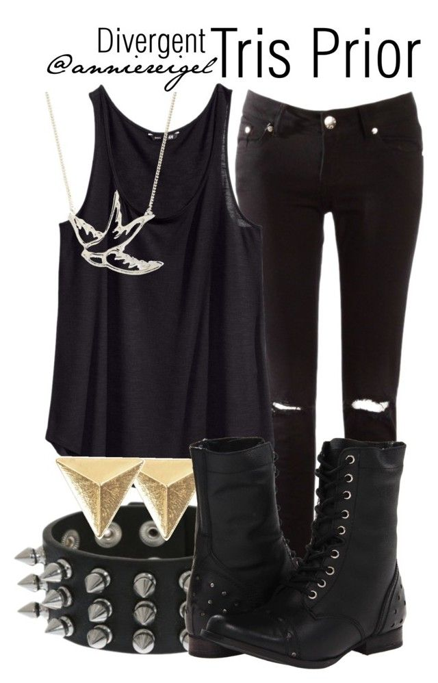 """""""Tris Prior"""" by anniereigel ❤ liked on Polyvore featuring H&M and Naughty Monkey"""