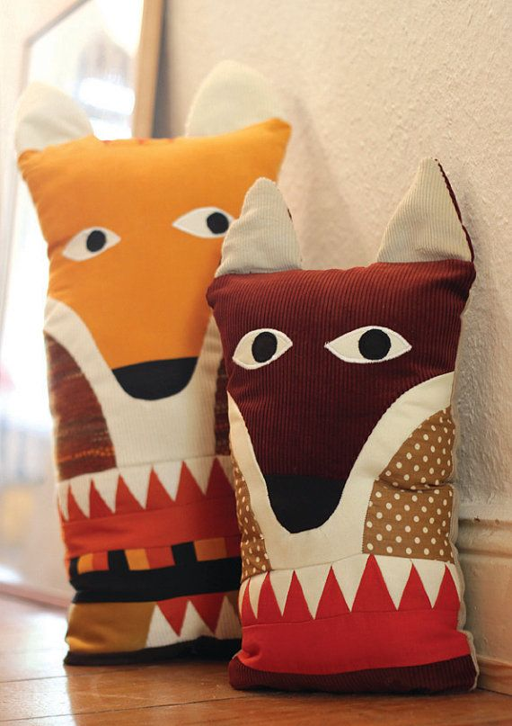 Fox pillow / small by karinlindeskov on Etsy, €25.00