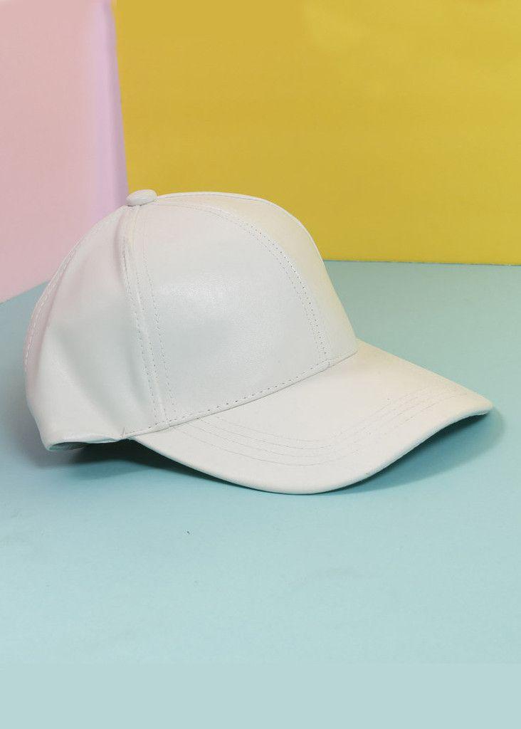 Pleather BB Girl White Ball Cap