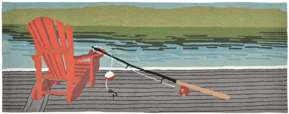 Lakeside Fishing Rug