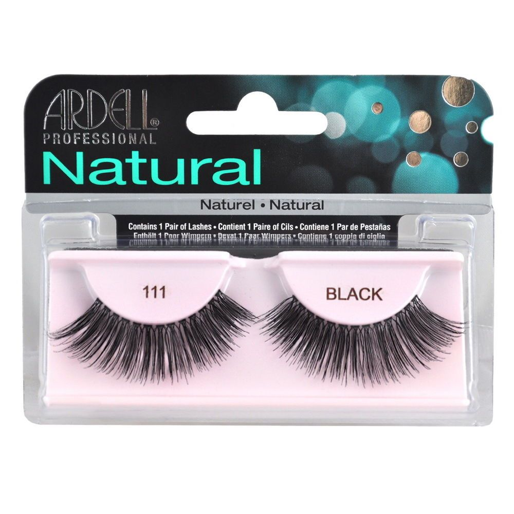 2828215826a $7.49 - 2 Pairs X Ardell Natural Lashes 111 False Eyelashes Fake Lash  Eyelash Black #