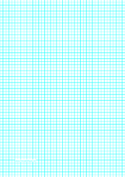 This A Graph Paper Has One Aqua Blue Line Every  Millimeters