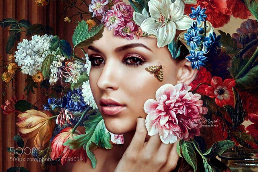 Marie (Flower Portrait) by ashleymarie-1