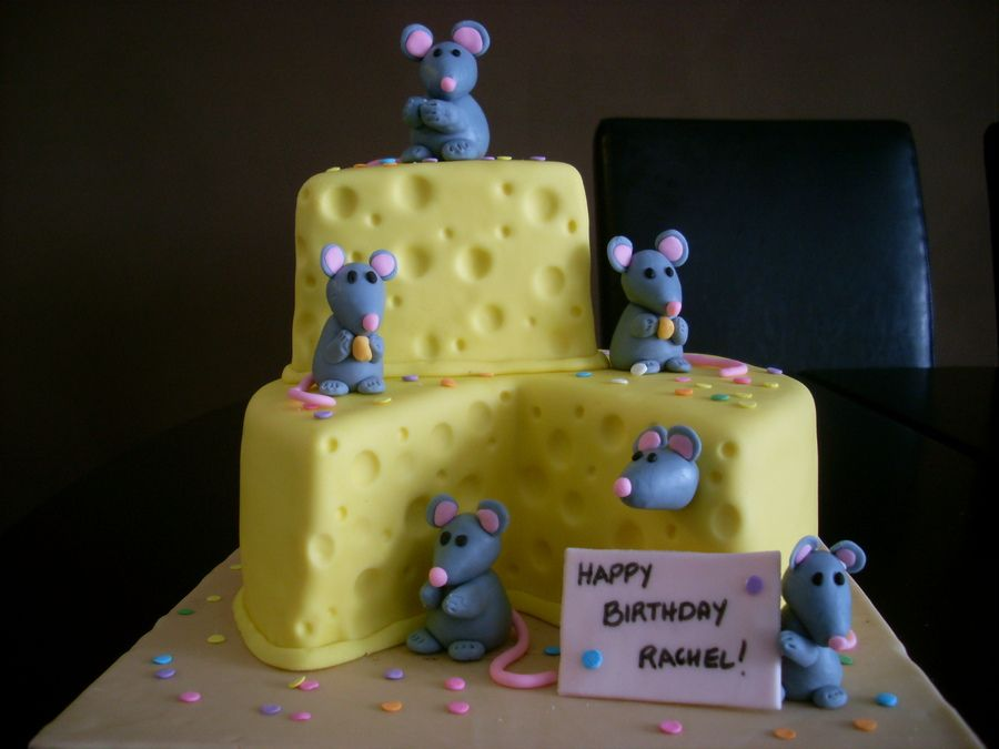 Mouse and Cheese themed Cake 1 of 3 via cake central modeling