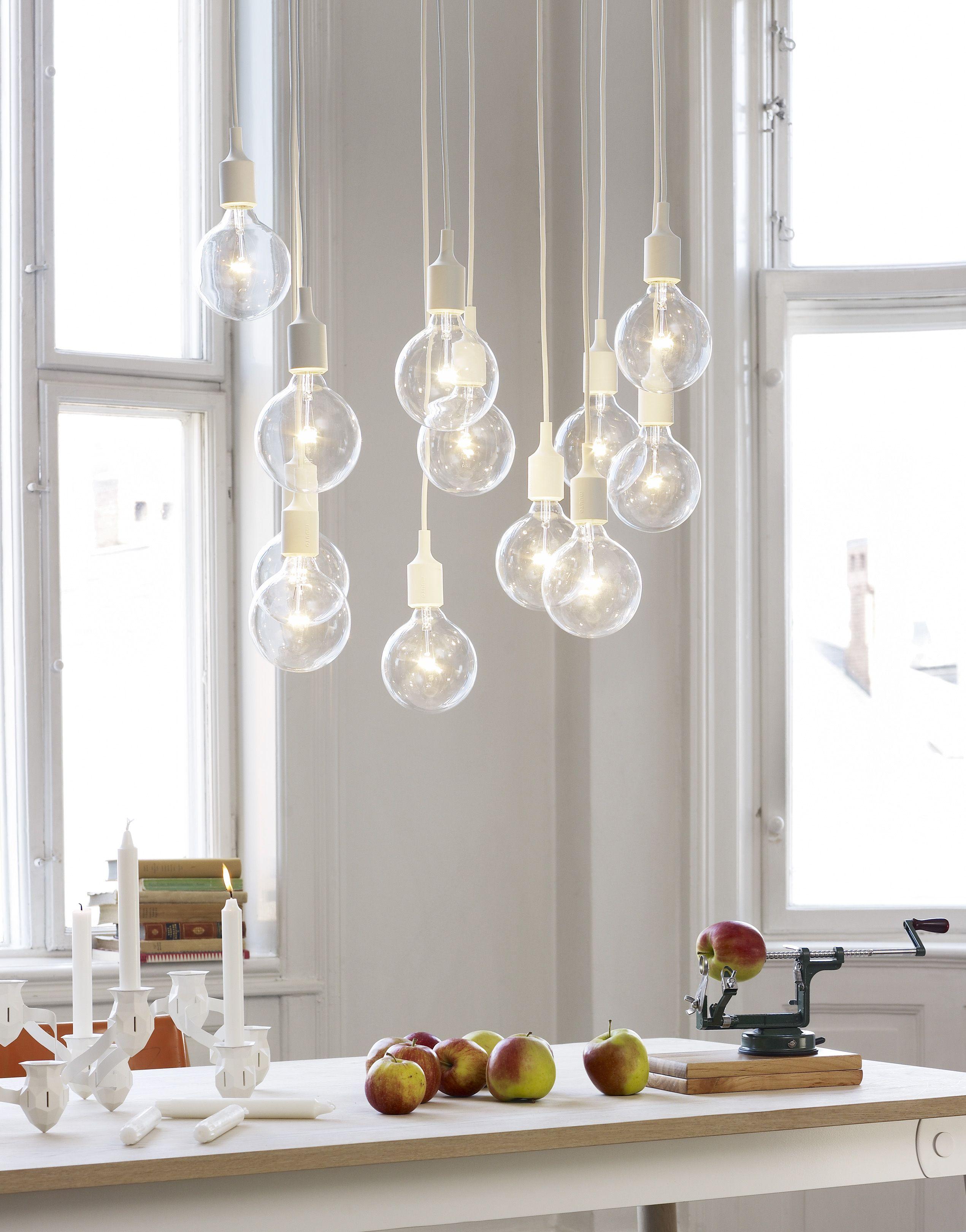 Industrial Design Meets Scandinavian Simplicity With The E27 Pendant Lamp Muuto Scandinav Scandinavian Lighting Dining Room Pendant Scandinavian Chandeliers
