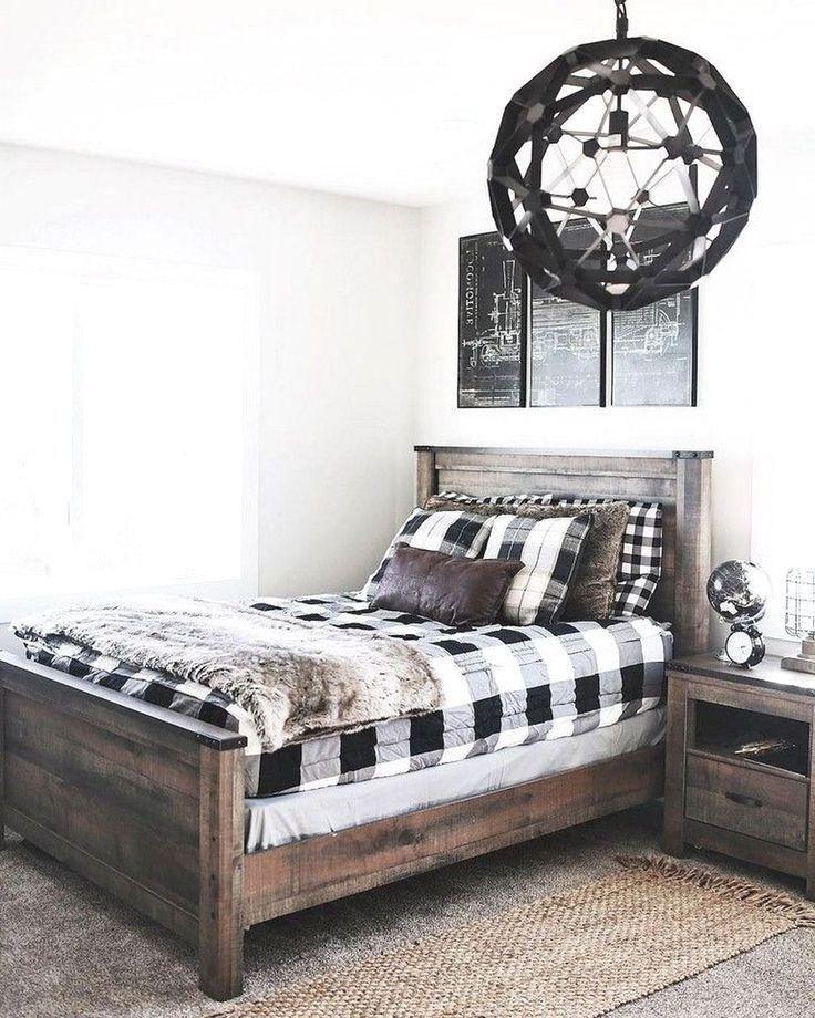 39 Beautiful Modern Farmhouse Bedroom Ideas For Master Suite #modernfarmhousebedroom