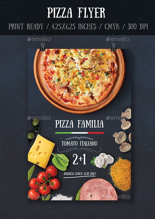 Pizza Flyer Template | Flyer Template, Pizzas And Print Templates