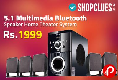 Shopclues is offering Flow Buzz Bluetooth 5.1 Multimedia Speaker ...