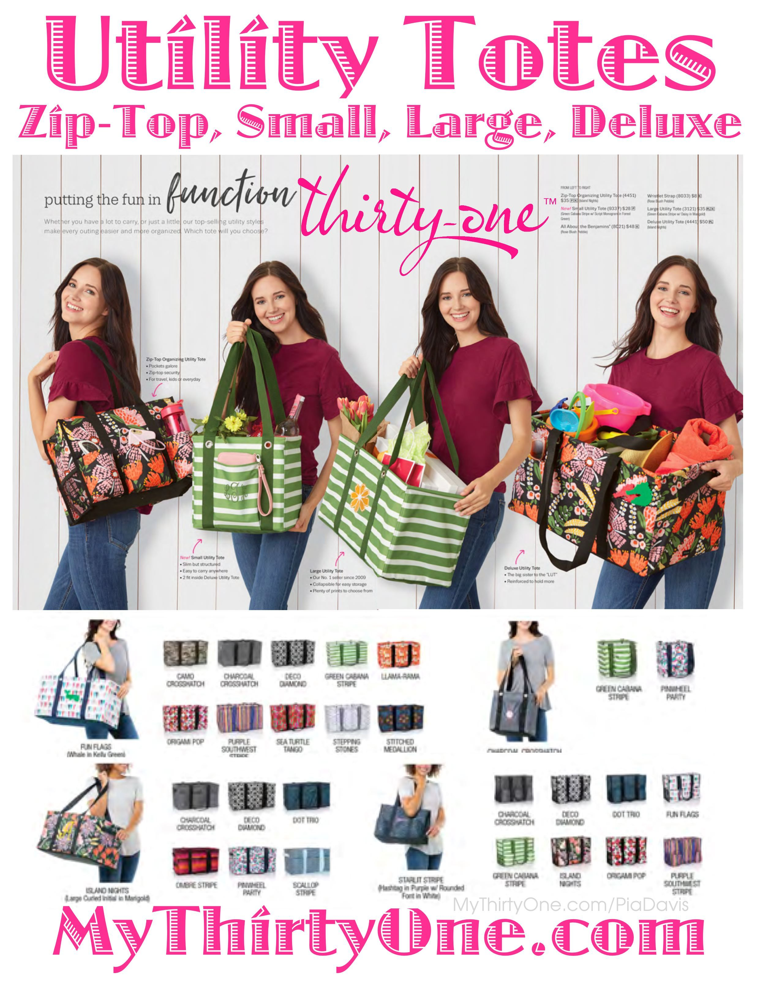 cdffb222f07 31 Thirty-One Gifts Utility Totes come in all shapes and sizes ...
