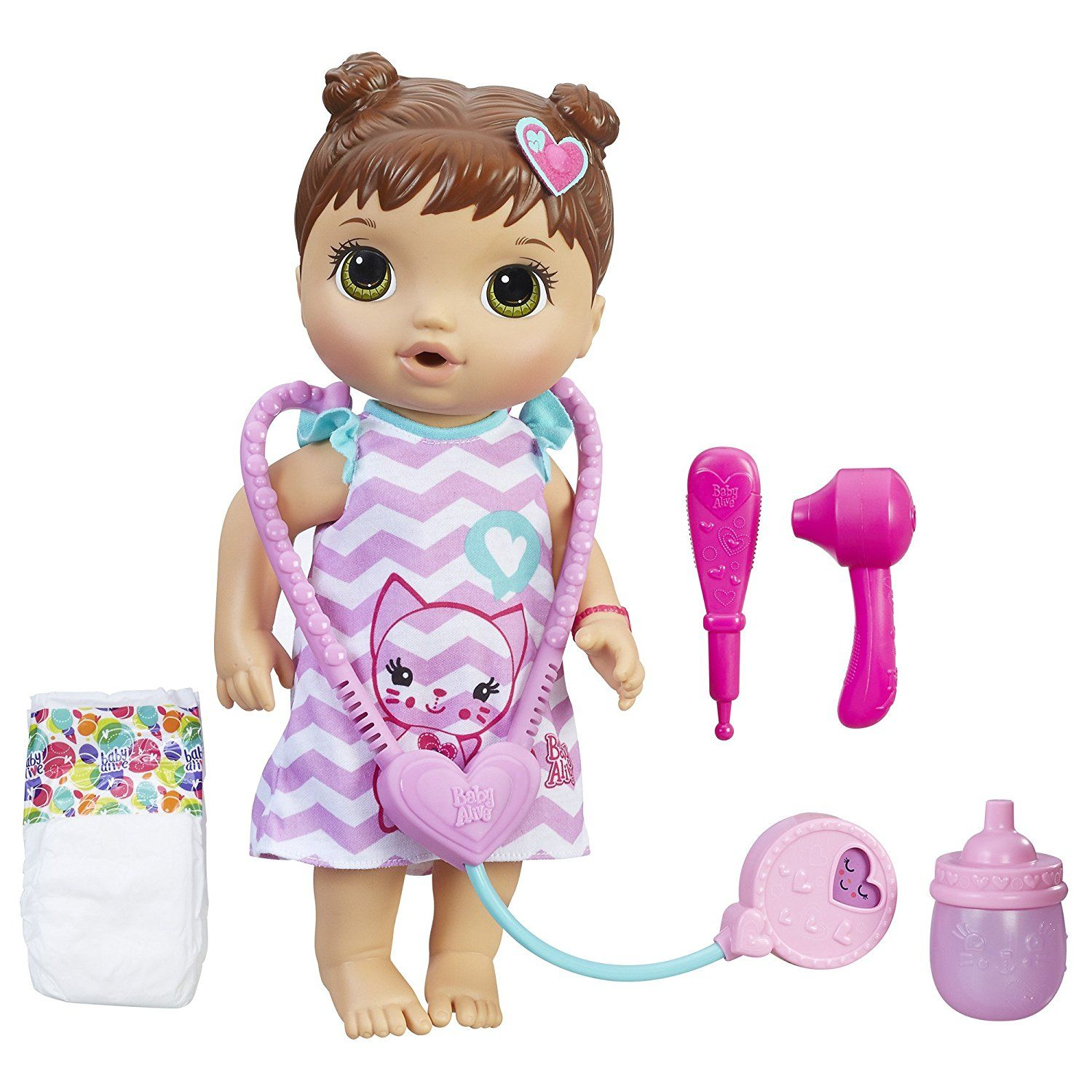 Amazon Com Baby Alive Better Now Bailey Brunette Toys Amp Games Realistic Baby Dolls Baby Doll Accessories Baby Alive Dolls