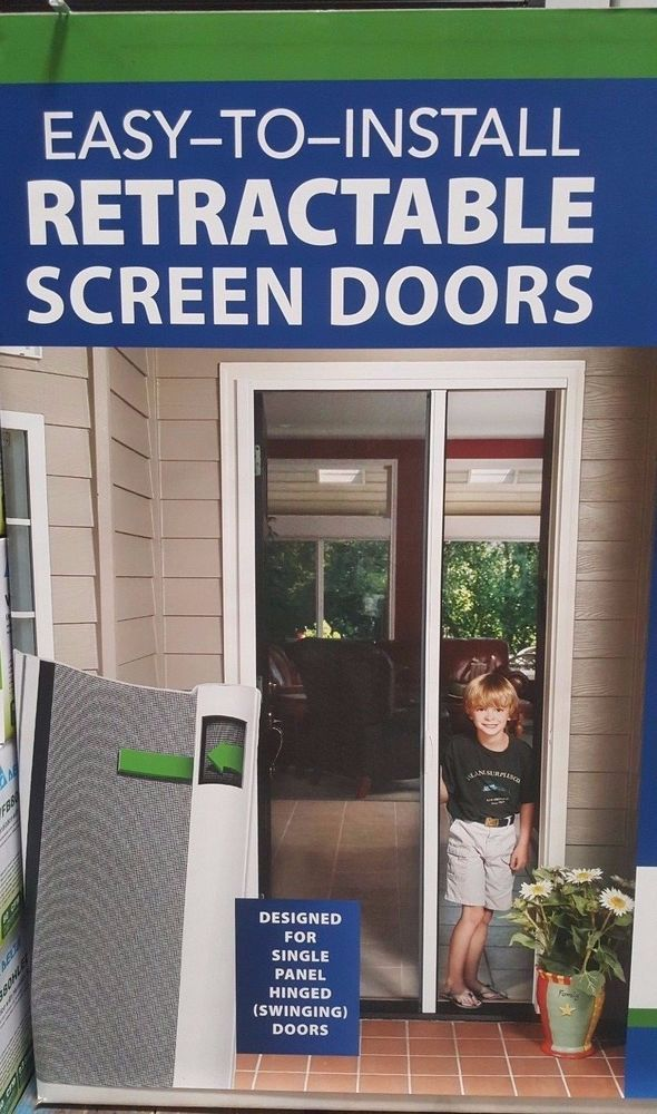 The Sierra 100 Retractable Screen Is Super Fast And Easy To Install Even For The Diyer The Sierra Screen Featur Metal Screen Doors Swinging Doors Screen Door