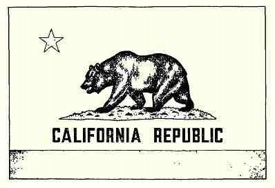 Original California Grizzly Bear State Flag