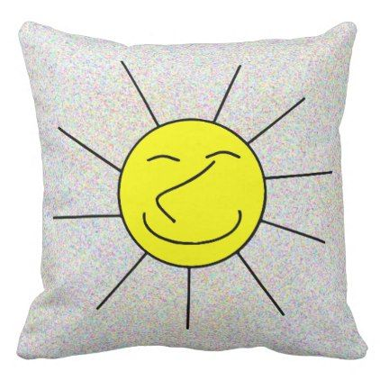 Happy Face Pillow Cute Throw Pillow