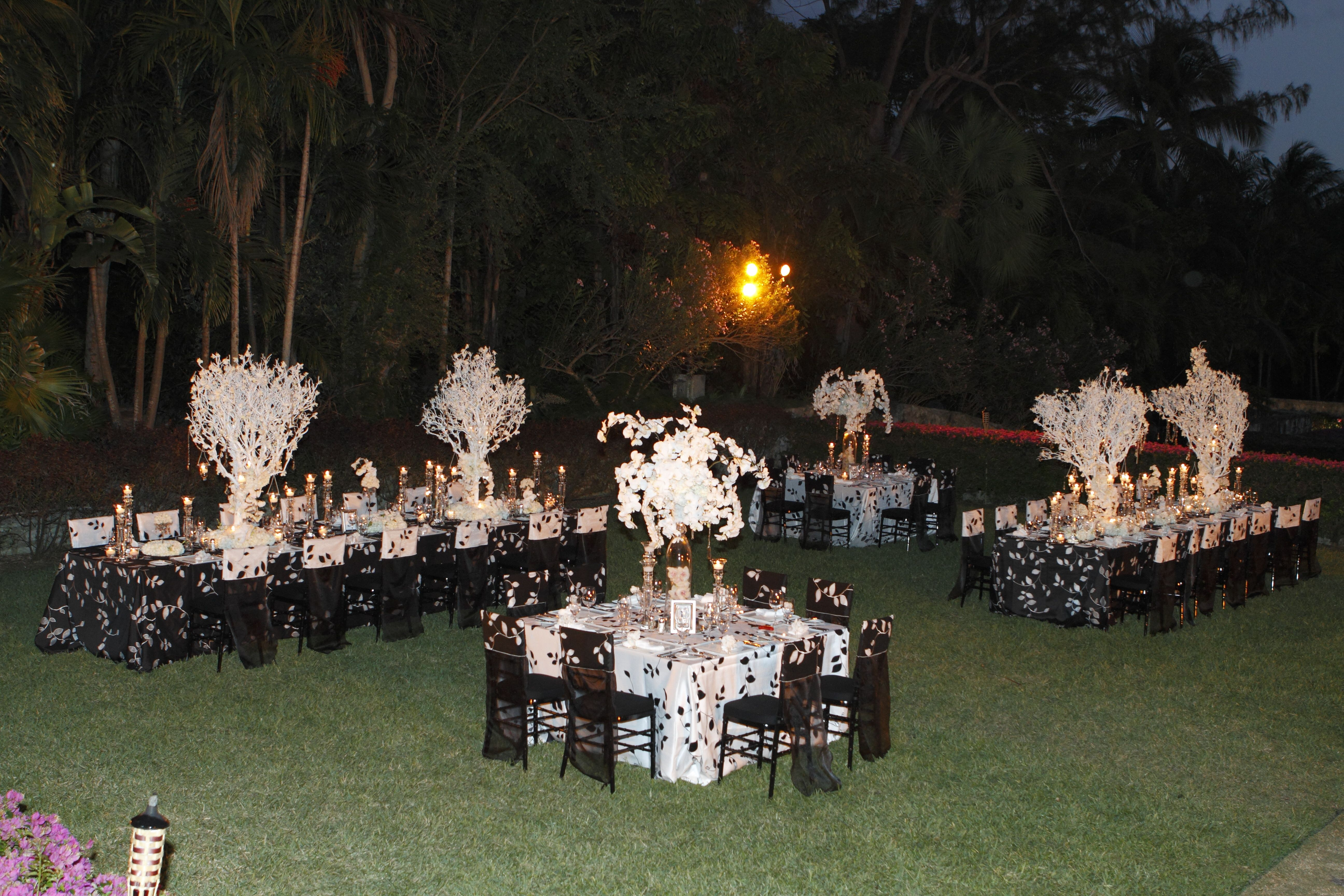 Decorations For Outdoor Black And White Party Black And White