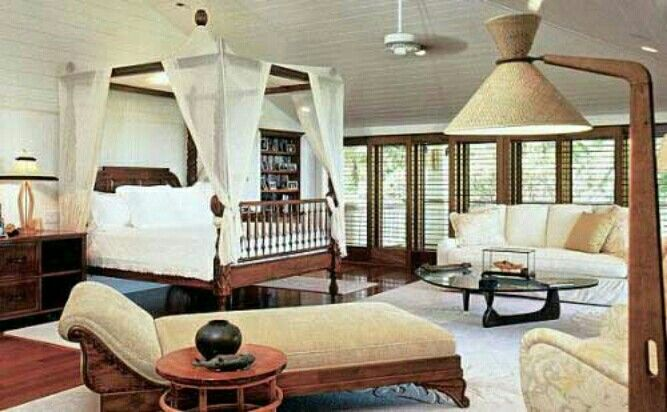 Inspirational Tropical Bedroom Decorating Ideas