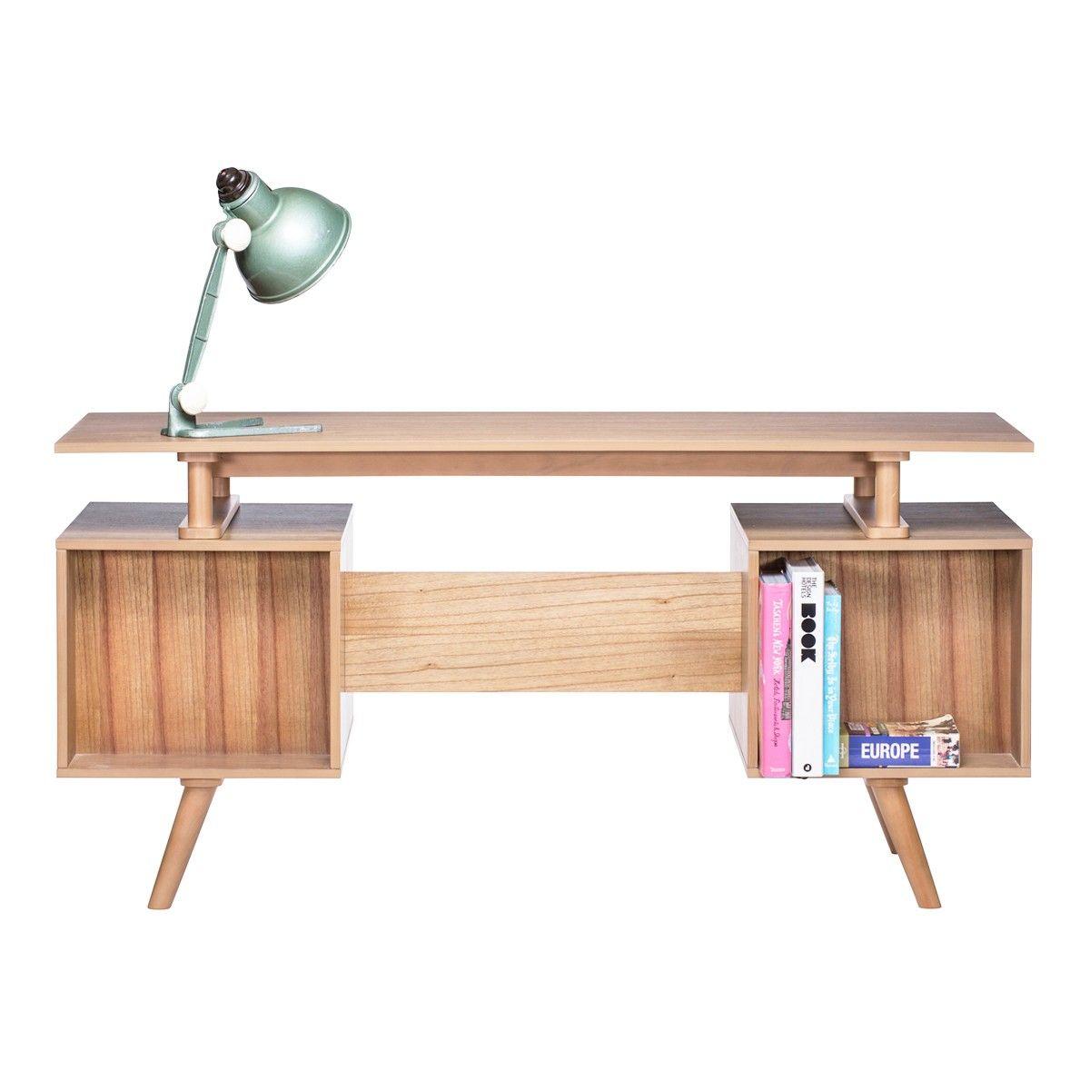 Josephine Scandinavian Office Desk - Natural/White ...