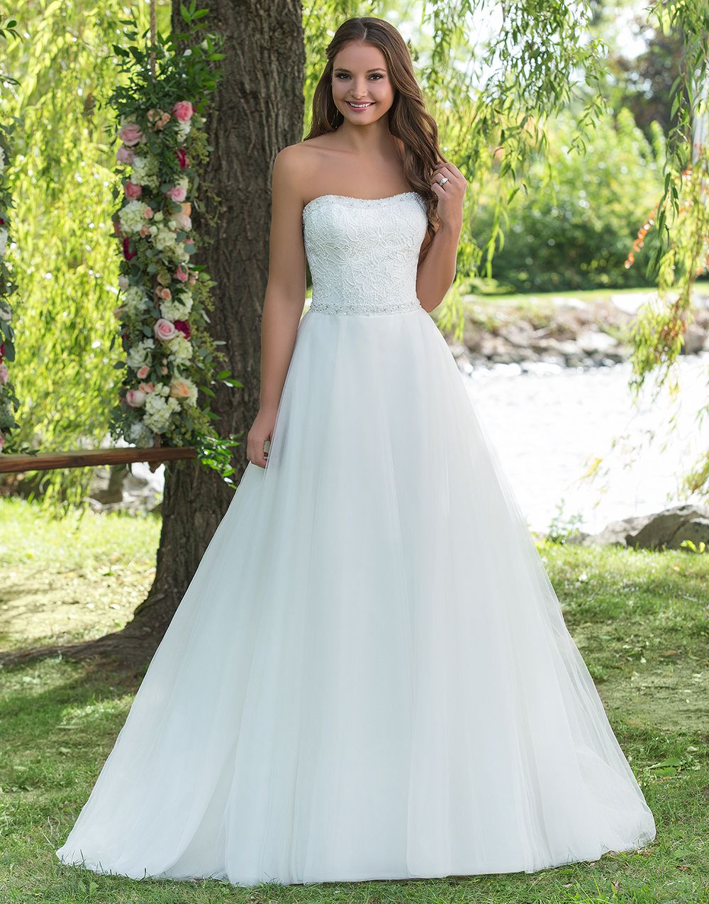 Sweetheart sweetheart style 6141 A strapless ball gown with light ...