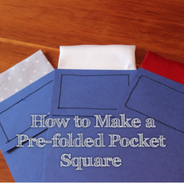 968e0adb5c0b How to make a pre-folded pocket square   Stuff in 2019   Men's ...