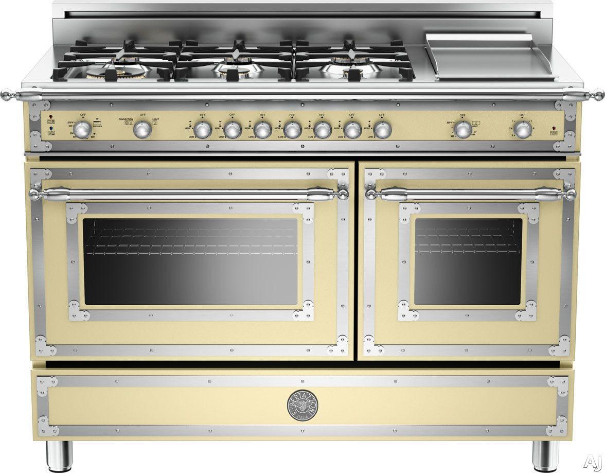bertazzoni her486ggascrlp 48 traditional style gas range with 6 rh pinterest com