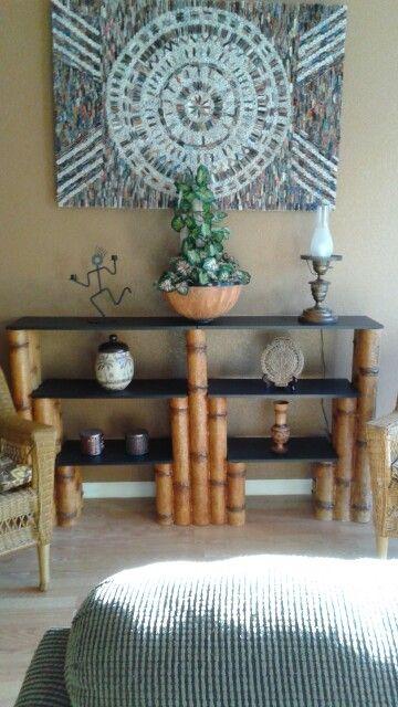 Hermoso mueble realizado con tubos de cartón, terminado con ...