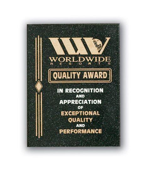 Laser Engraved Cultured Marble Plaque Premios Copa