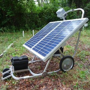 The Full Belly Project's double solar panel hand cart can provide enough power to pump up to 2,400 gallons of water per day at 35psi.