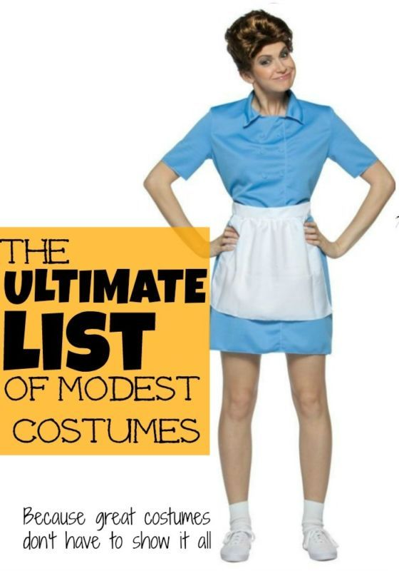 I love this list of cute clever and MODEST Halloween costume ideas! So many great Womenu0027s Halloween costume ideas.  sc 1 st  Pinterest & The Ultimate List of Modest Costume Ideas for Women | Pinterest ...